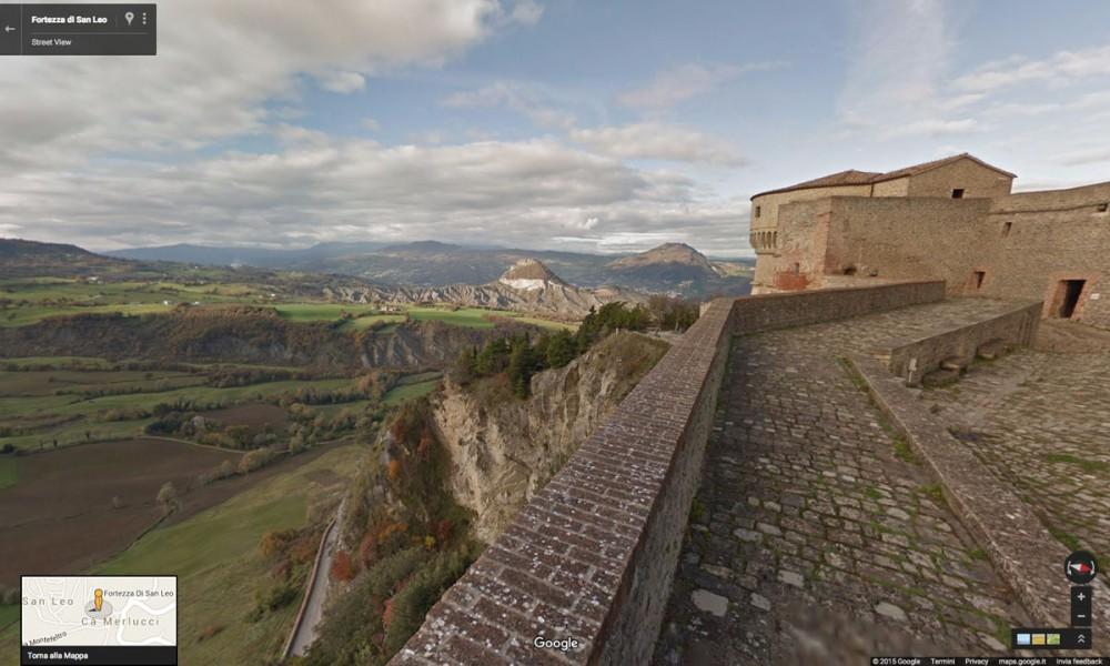 fortezza di san leo rimini streetview google
