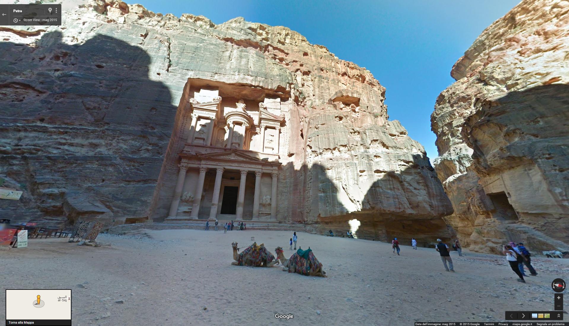 google street view giordania petra