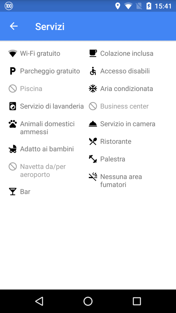google maps hotel servizi