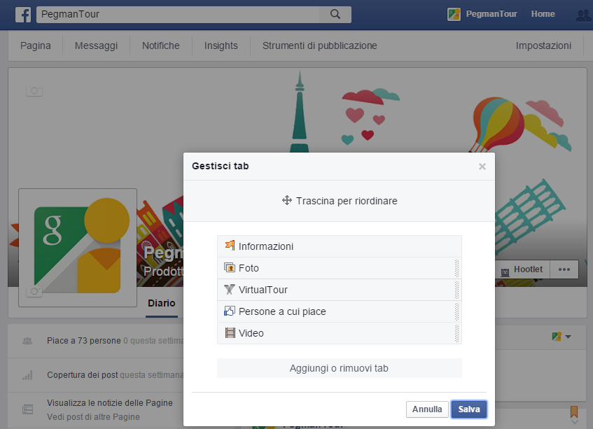 tab2 - implementare tour virtuale su facebook