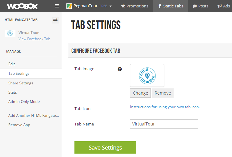tab3 - implementare tour virtuale su facebook
