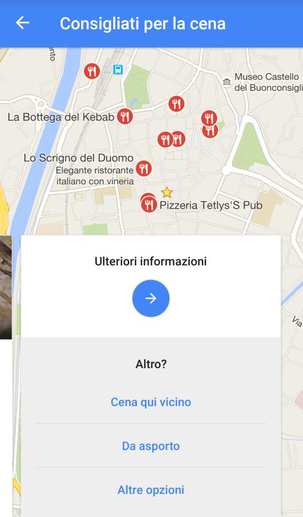 google maps esplora i dintorni